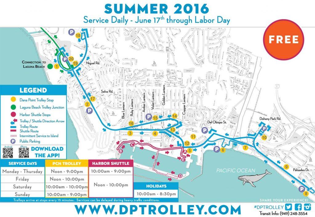 dana point summer trolley schedule