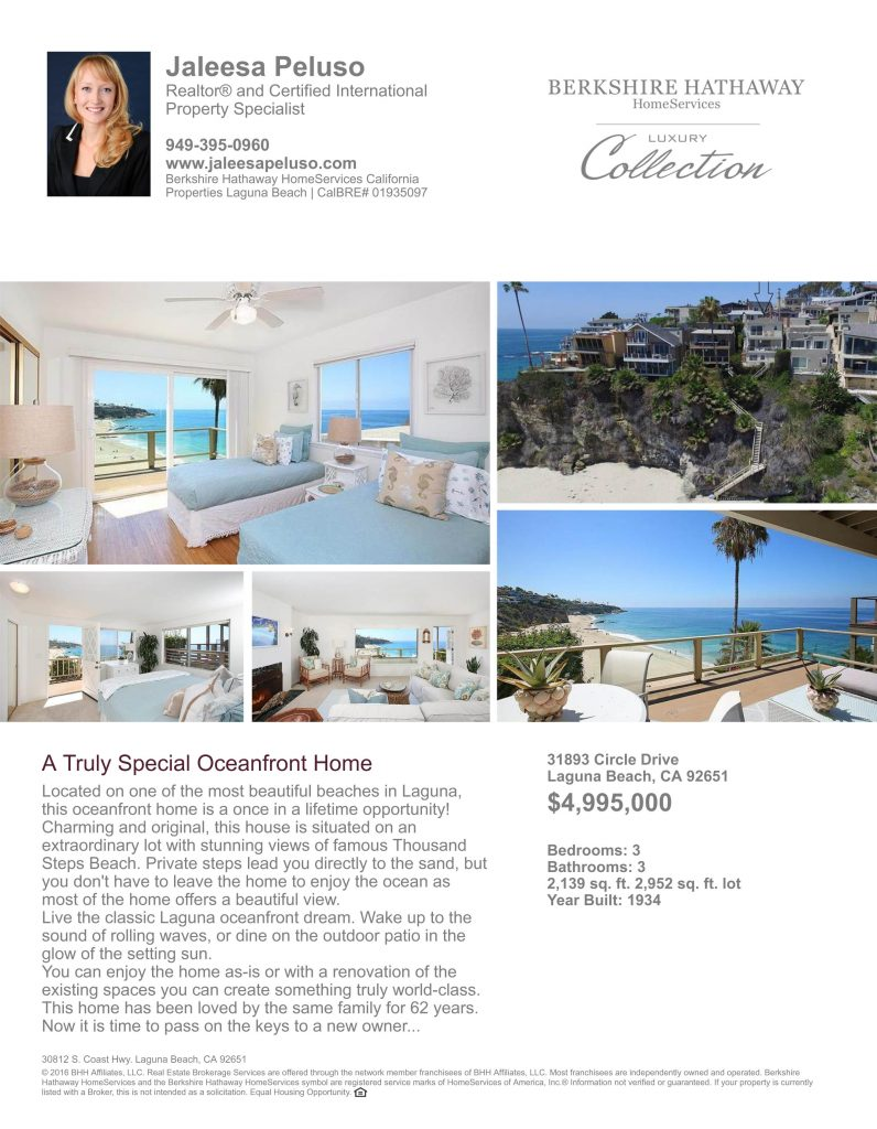 ocean front homes in laguna beach orange county oceanfront real estate