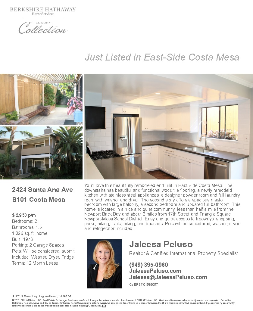 2424 Santa Ana Ave Costa Mesa Real Estate For Lease Costa Mesa Home for Lease